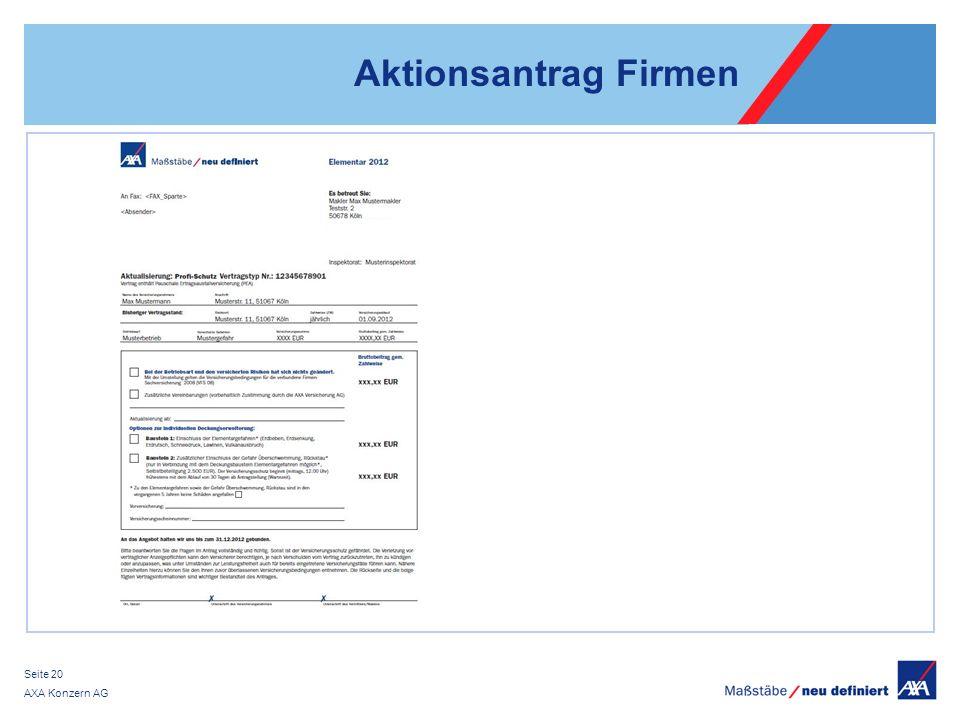 AXA Konzern AG Seite 20 Aktionsantrag Firmen