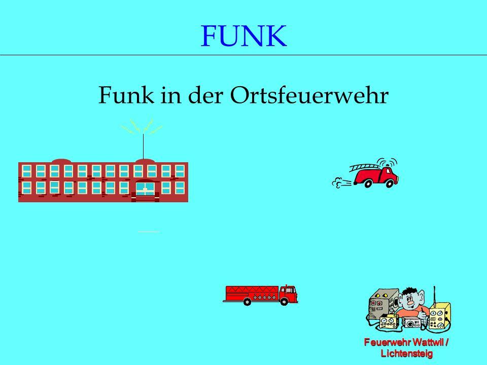 Feuerwehr Wattwil / Lichtensteig FUNK Funk in der Ortsfeuerwehr