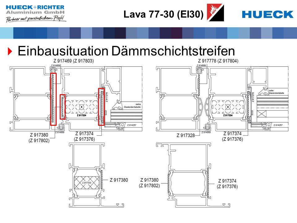Lava 77-30 (EI30) Einbausituation Dämmschichtstreifen