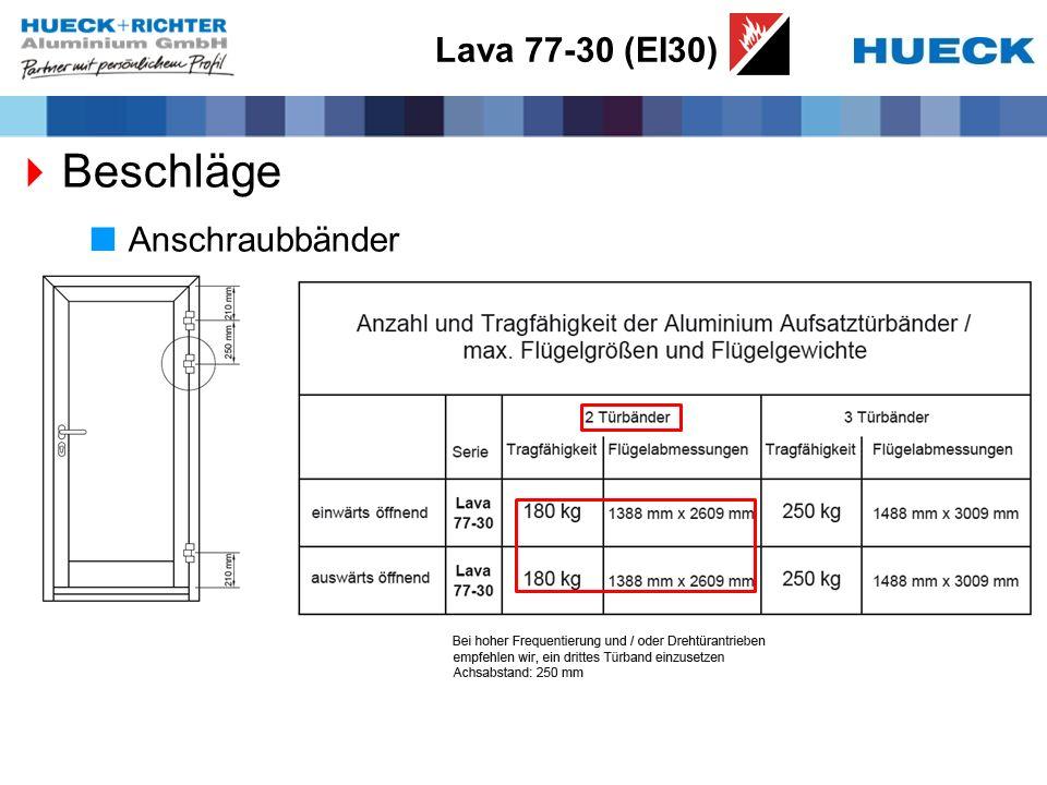 Lava 77-30 (EI30) Beschläge Anschraubbänder