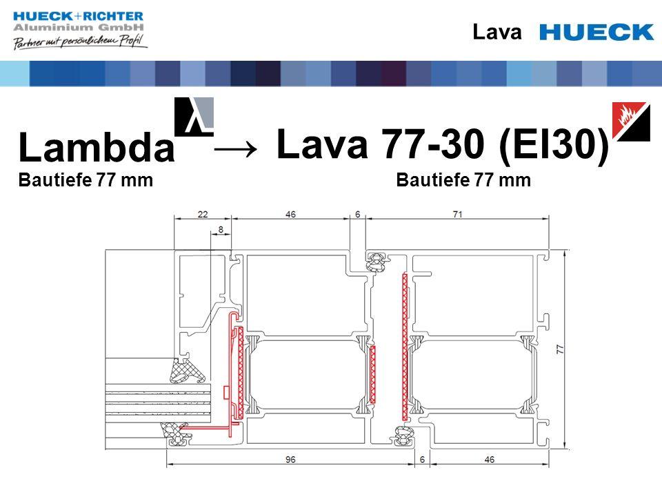 Lava Lambda Bautiefe 77 mm Lava 77-30 (EI30) Bautiefe 77 mm