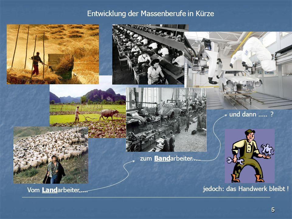 5 Entwicklung der Massenberufe in Kürze Vom Landarbeiter.....