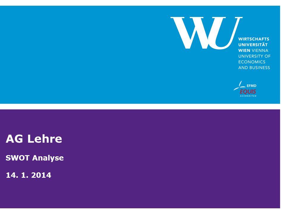AG Lehre SWOT Analyse 14. 1. 2014