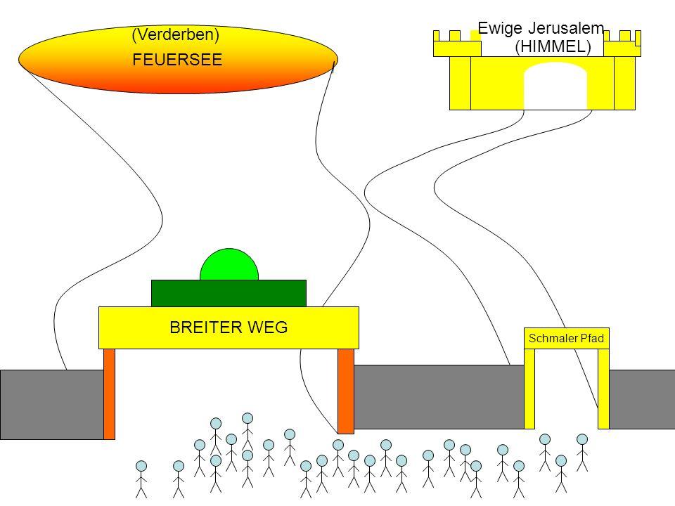 FEUERSEE Ewige Jerusalem (HIMMEL) (Verderben) BREITER WEG Schmaler Pfad