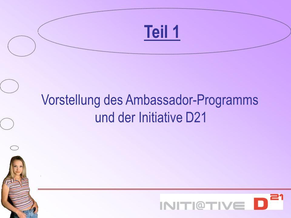 Vorstellung des Ambassador-Programms und der Initiative D21 Teil 1