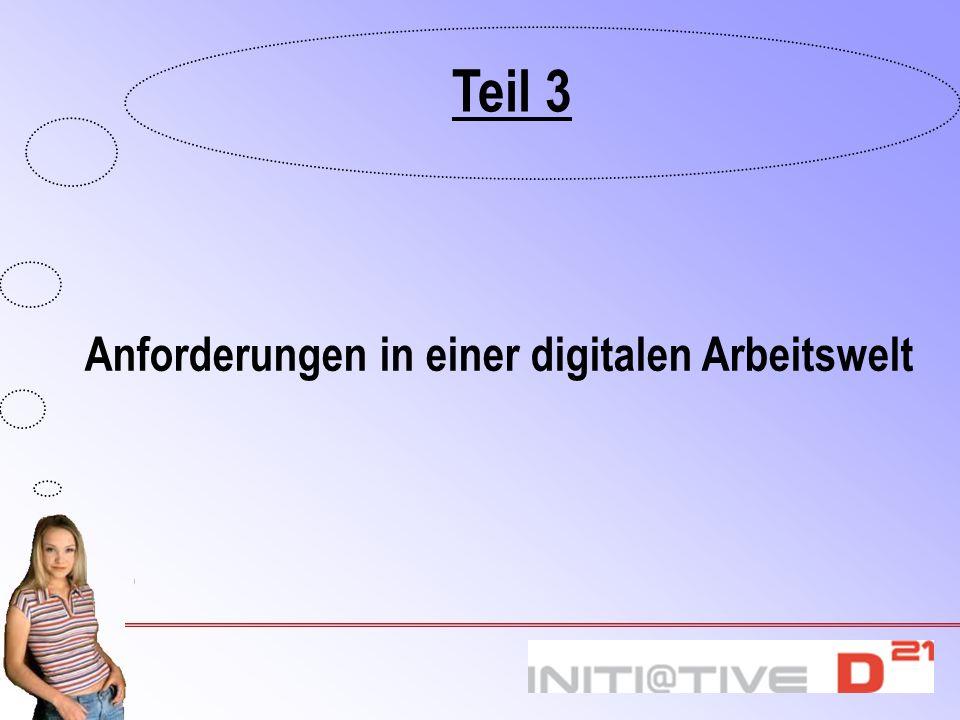 Anforderungen in einer digitalen Arbeitswelt Teil 3