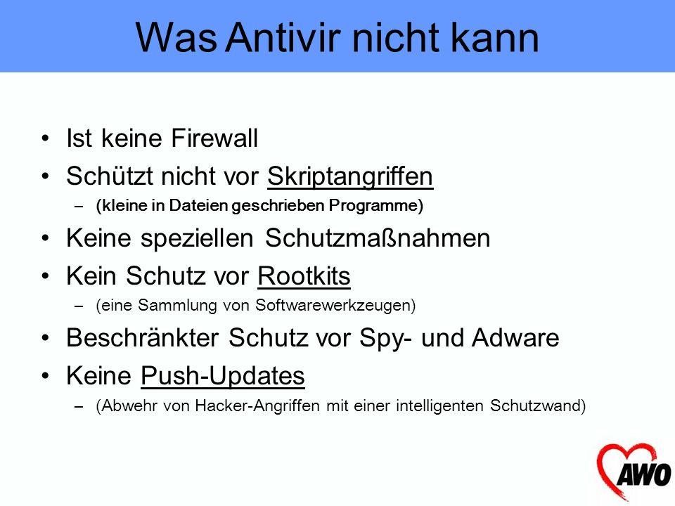 On-Access Scan (Echtzeit-Scannen) On-Demand Scan (auf Anforderung) Malware Erkennung (Schadprogramme-Erkennung) Automatisches Update Einfache Bedienun