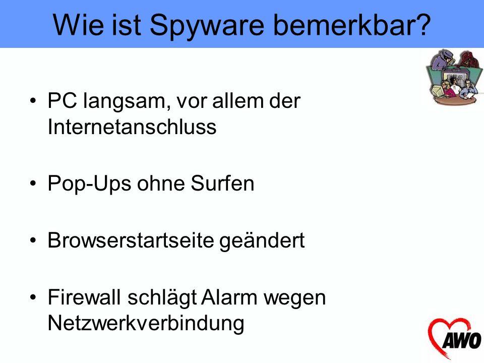 Spionagesoftware Benutzerverhalten (..zeichnet Benutzerverhalten auf ) Änderungen im Browser (.. schützt vor Änderungen von Browser-, Autostart- und N