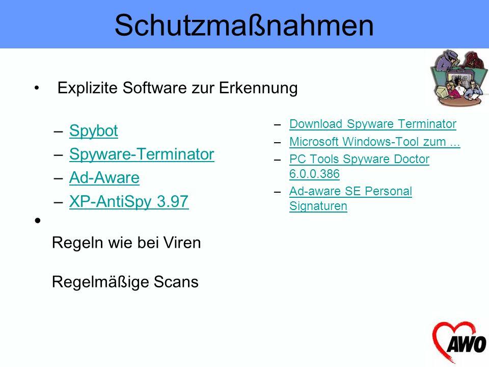 PC langsam, vor allem der Internetanschluss Pop-Ups ohne Surfen Browserstartseite geändert Firewall schlägt Alarm wegen Netzwerkverbindung Wie ist Spy