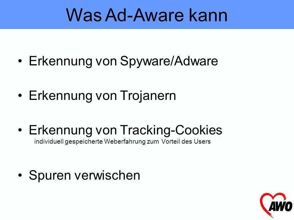 Die wichtigsten Funktionen von Ad-Aware Ad-Aware