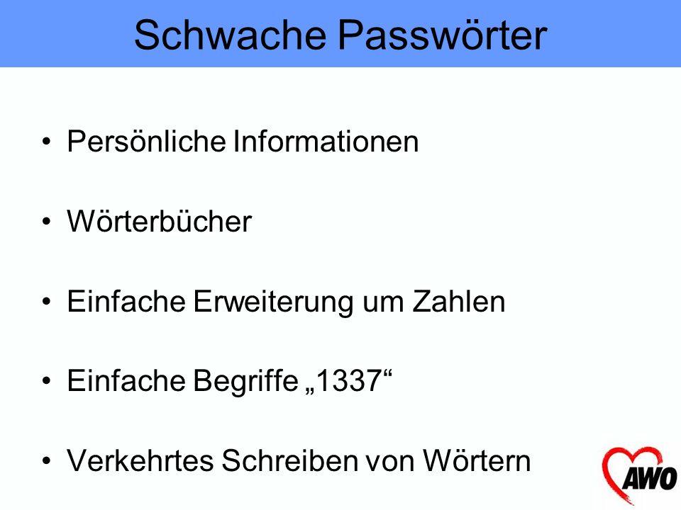 Erstellung einfach Merken schwierig komplexe Passwörter schwer zu erraten Passworterstellung