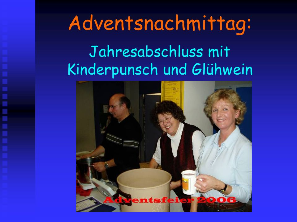 Adventsnachmittag: Jahresabschluss mit Kinderpunsch und Glühwein