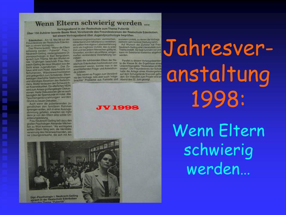 Jahresver- anstaltung 1998: Wenn Eltern schwierig werden…