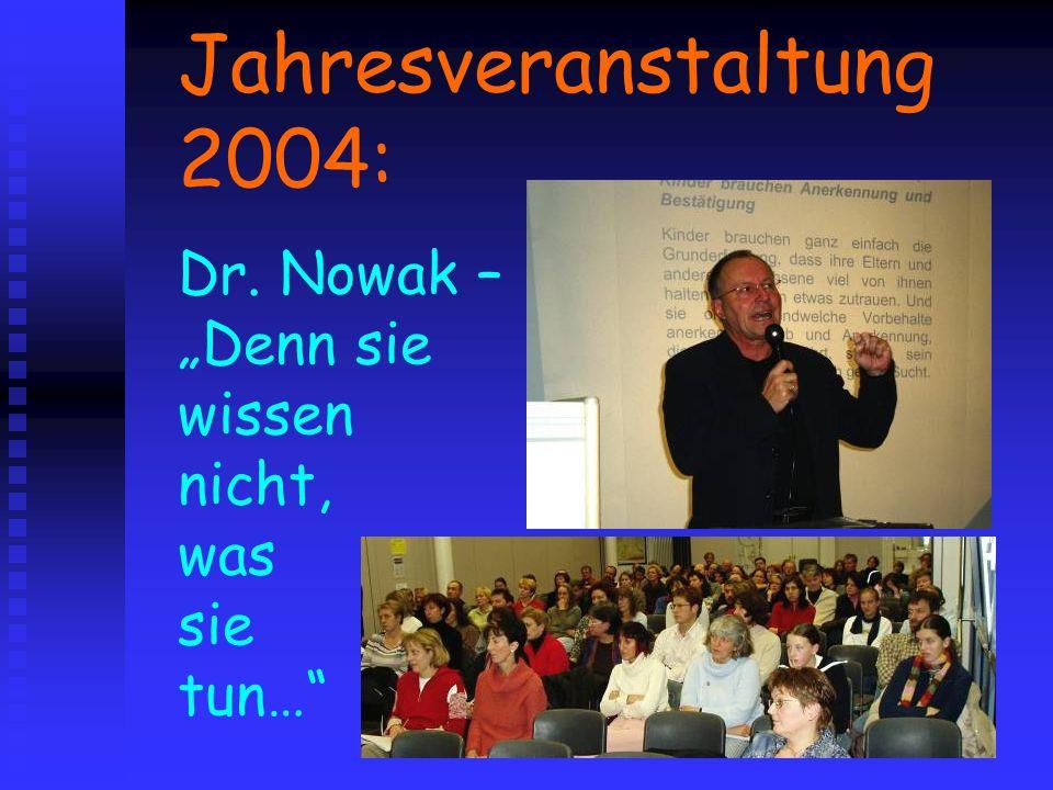 Jahresveranstaltung 2004: Dr. Nowak – Denn sie wissen nicht, was sie tun…