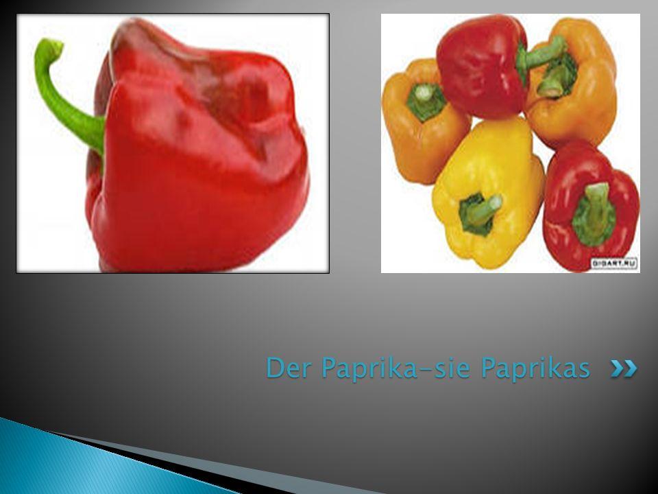 Der Paprika-sie Paprikas
