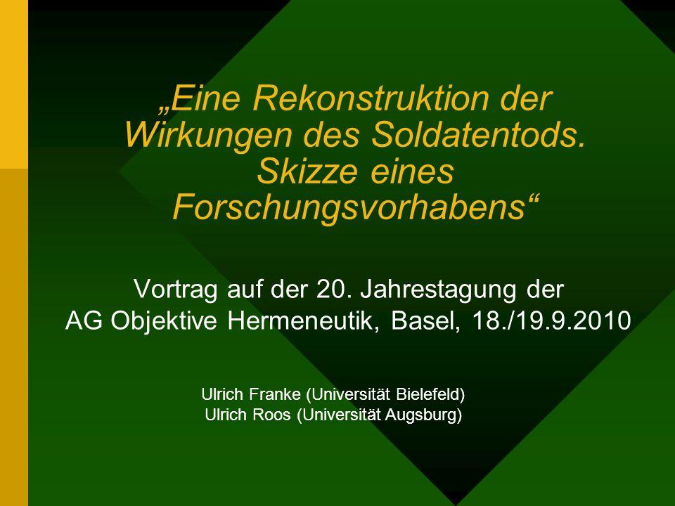 Gliederung des Vortrags I.Zeithistorische Kontextualisierung des Untersuchungsgegenstands II.