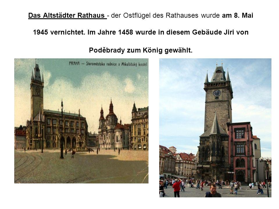 Das Altstädter Rathaus - der Ostflügel des Rathauses wurde am 8.