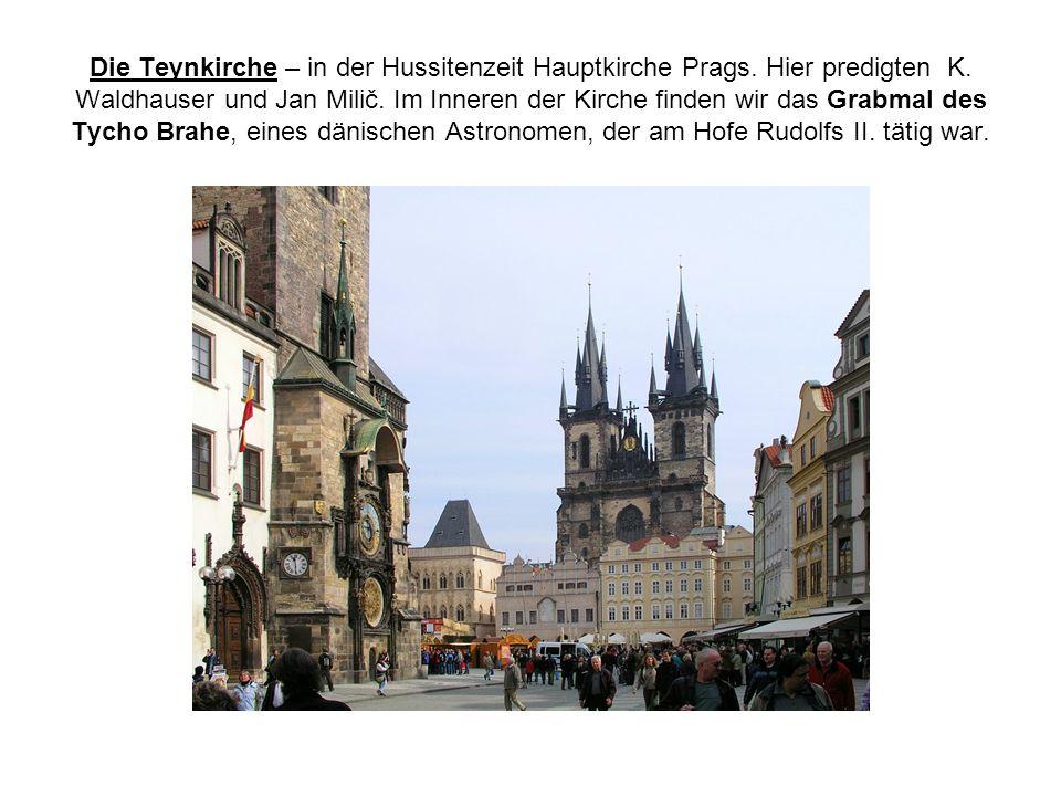 Die Teynkirche – in der Hussitenzeit Hauptkirche Prags.