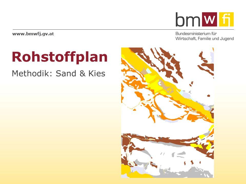 www.bmwfj.gv.at Rohstoffplan 18.05.2014 2 Sand & Kies Grundlage: Lithologische Karte von Österreich