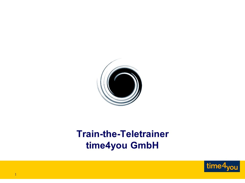 1 Train-the-Teletrainer time4you GmbH