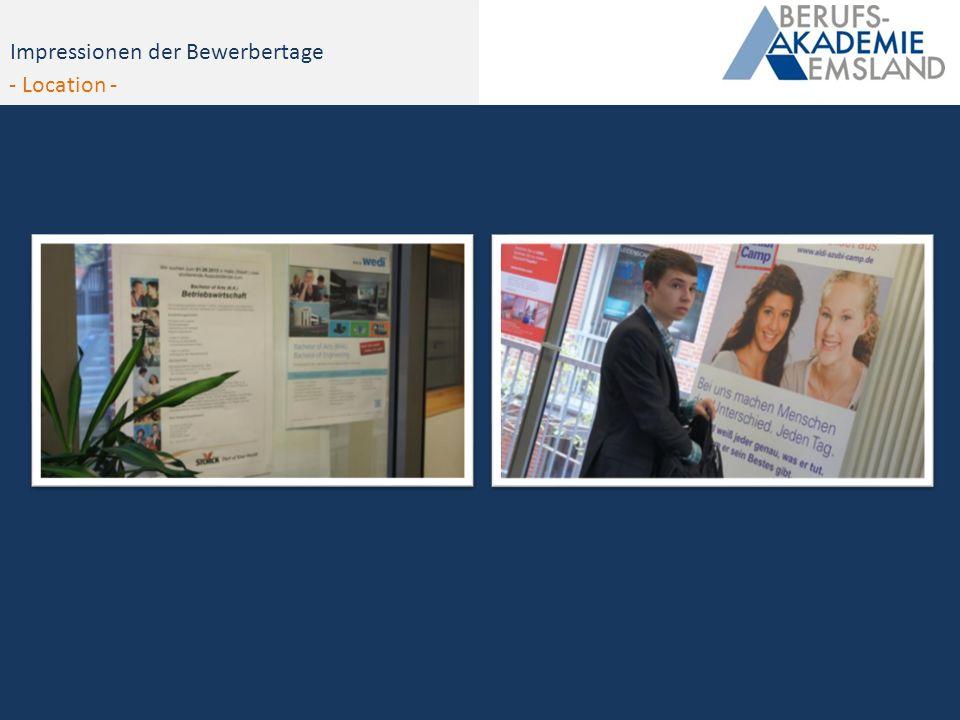 Impressionen - Bewerbertag 2012Impressionen der Bewerbertage - Location -