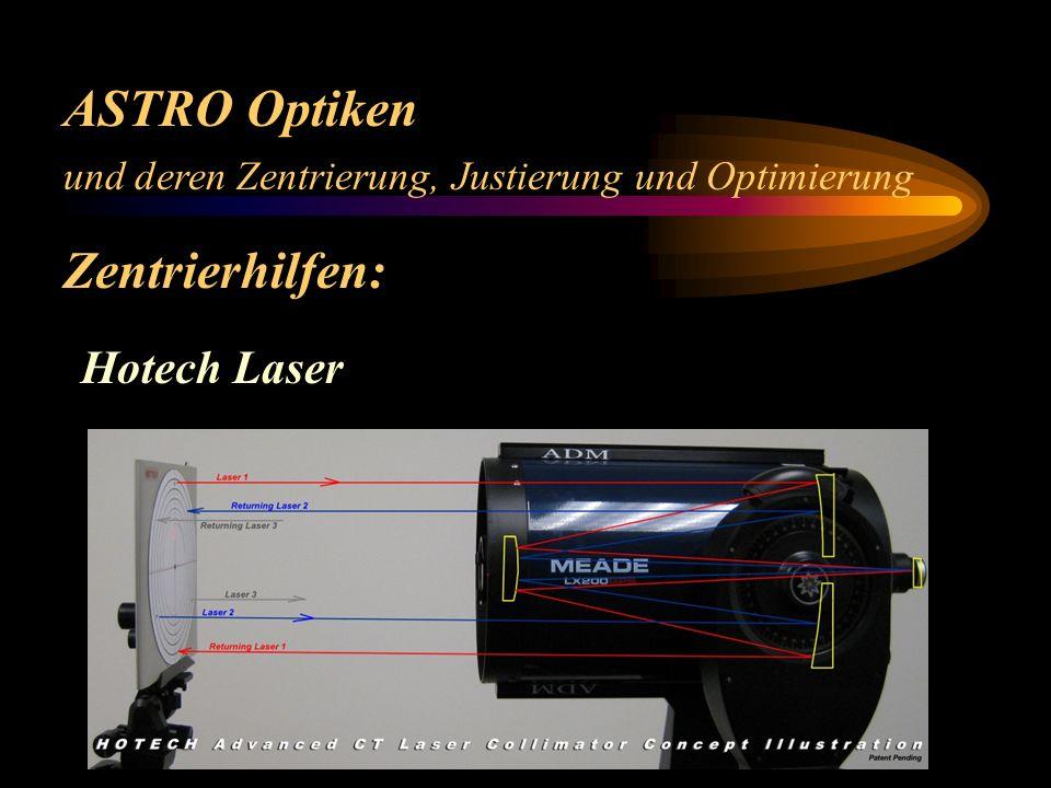 ASTRO Optiken und deren Zentrierung, Justierung und Optimierung Zentrierhilfen: Laser einfach