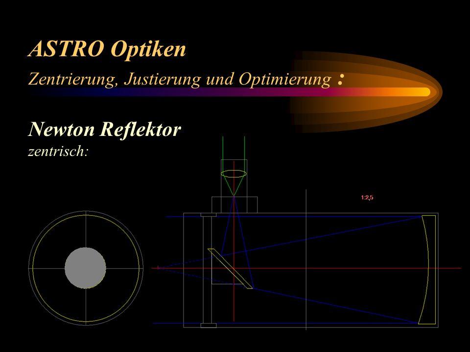 ASTRO Optiken Zentrierung, Justierung und Optimierung : (Schmidt) Cassegrain: