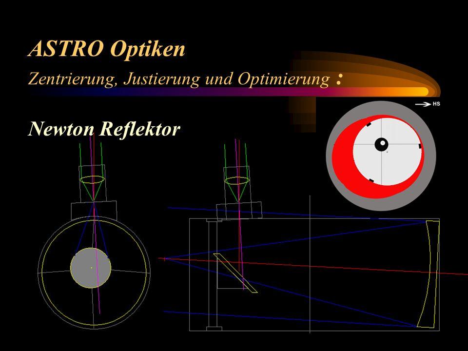 ASTRO Optiken Zentrierung, Justierung und Optimierung : Newton Reflektor zentrisch: