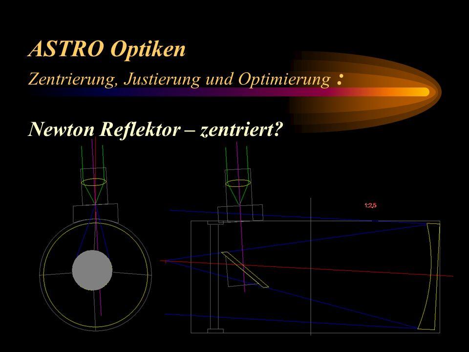 ASTRO Optiken Zentrierung, Justierung und Optimierung : Newton Reflektor