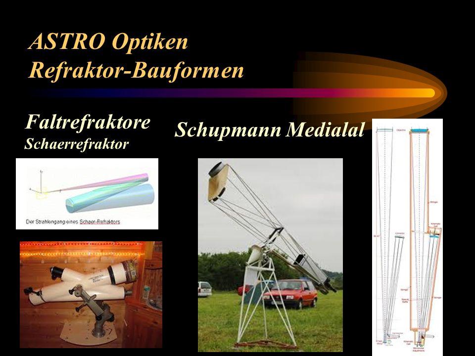 ASTRO Optiken Refraktor-Bauformen Coudè Refraktor Kepler-Fernrohr