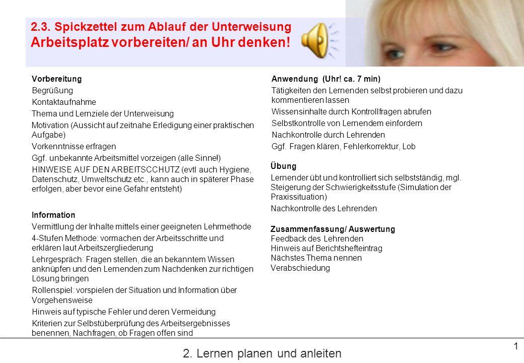 2 3.4.Der Vortrag PV IHK S. 107 Zur Vermittlung kognitiver Lernziele 1.