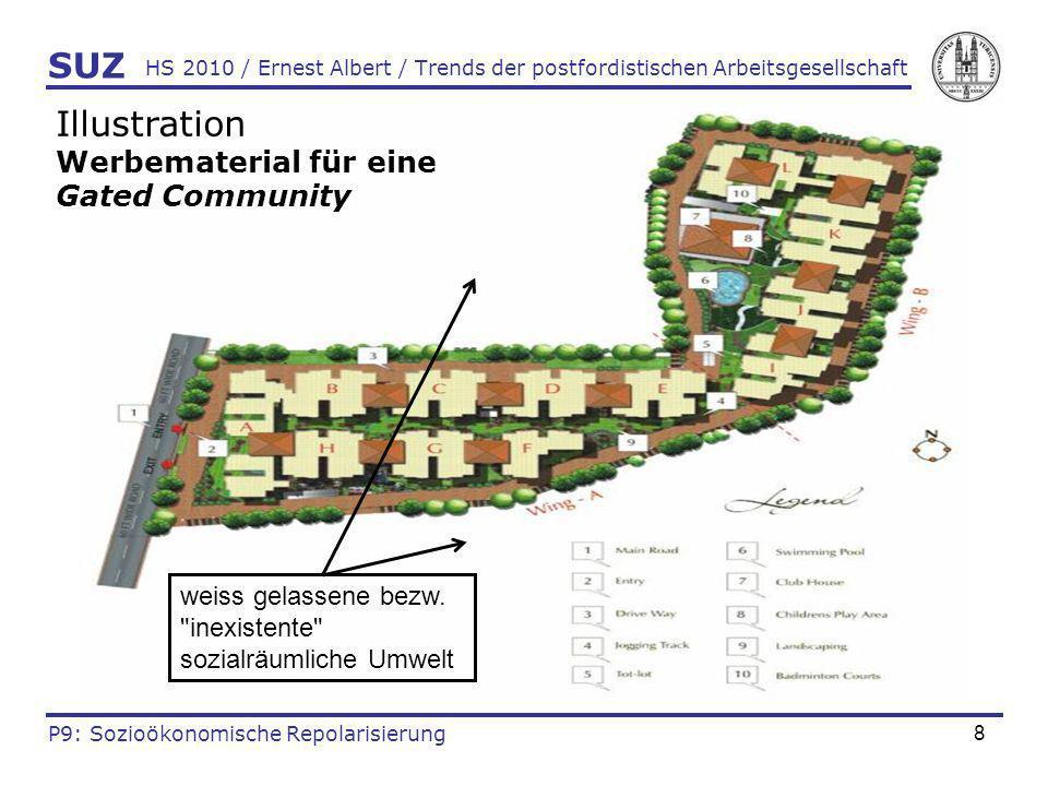 8 HS 2010 / Ernest Albert / Trends der postfordistischen Arbeitsgesellschaft SUZ P9: Sozioökonomische Repolarisierung Illustration Werbematerial für e