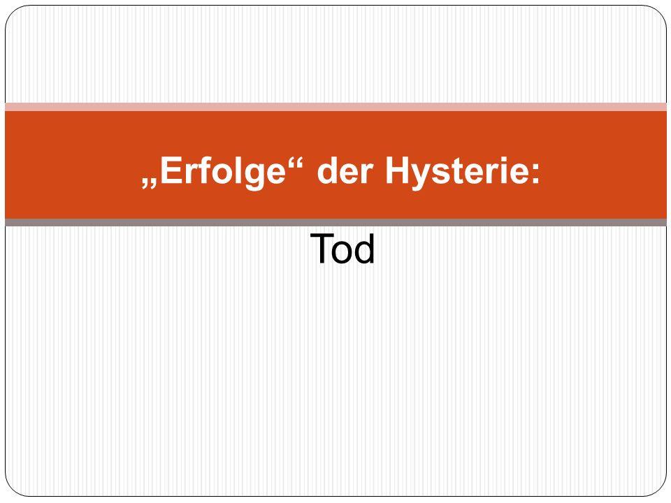 Quellen zu den vorgenannten Behauptungen finden Sie im Essay http://www.triebel.de/2011/Erfolge_der_Hysterie.pdf Quellen