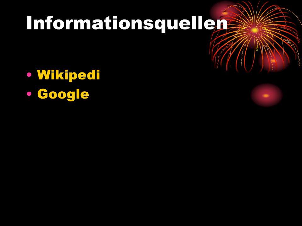 Informationsquellen Wikipedi Google