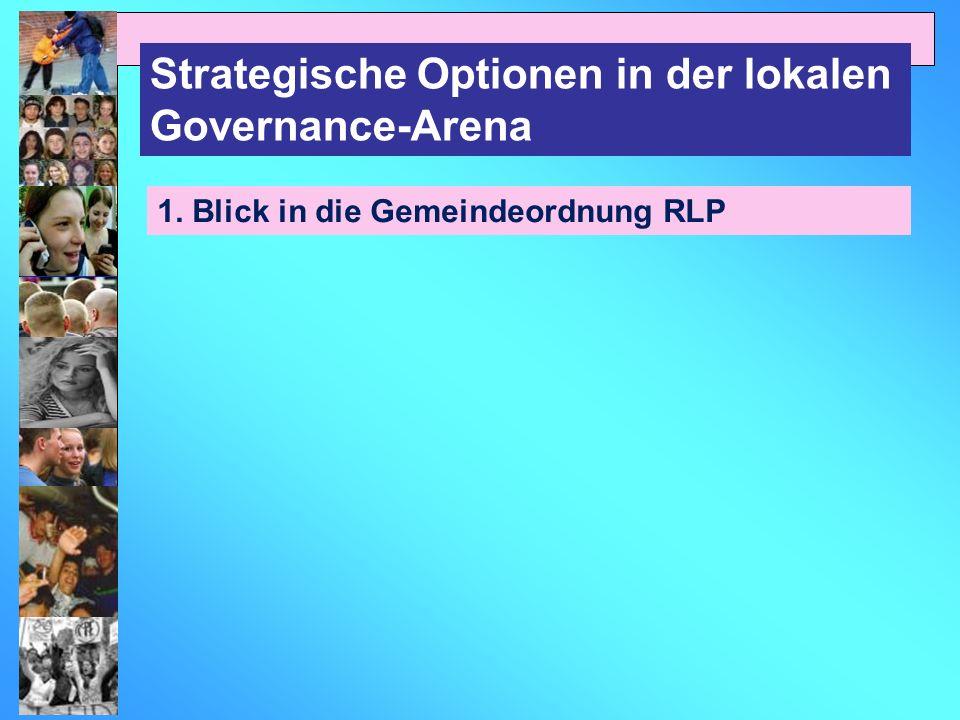 Strategische Optionen in der lokalen Governance-Arena 1. Blick in die Gemeindeordnung RLP