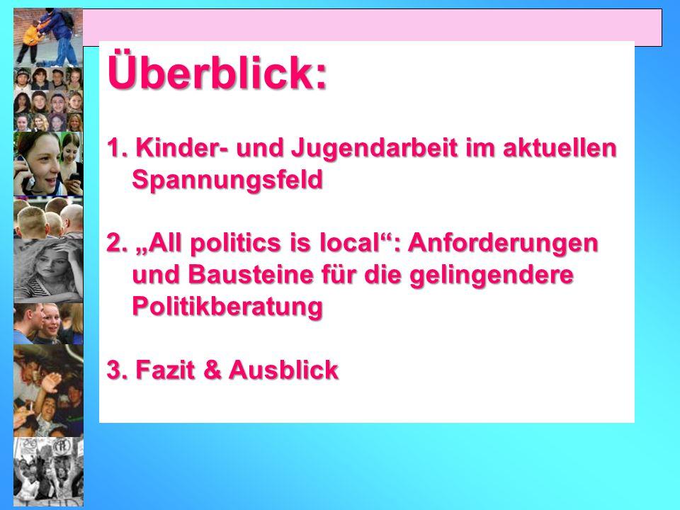 Überblick: 1. Kinder- und Jugendarbeit im aktuellen Spannungsfeld 2.