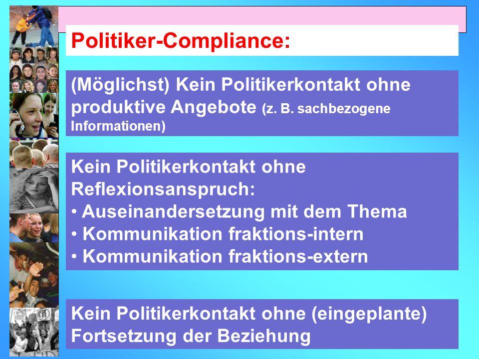 Politiker-Compliance: (Möglichst) Kein Politikerkontakt ohne produktive Angebote (z.