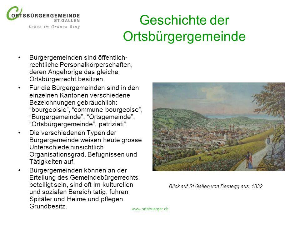 www.ortsbuerger.ch Geschichte der Ortsbürgergemeinde Bürgergemeinden sind öffentlich- rechtliche Personalkörperschaften, deren Angehörige das gleiche