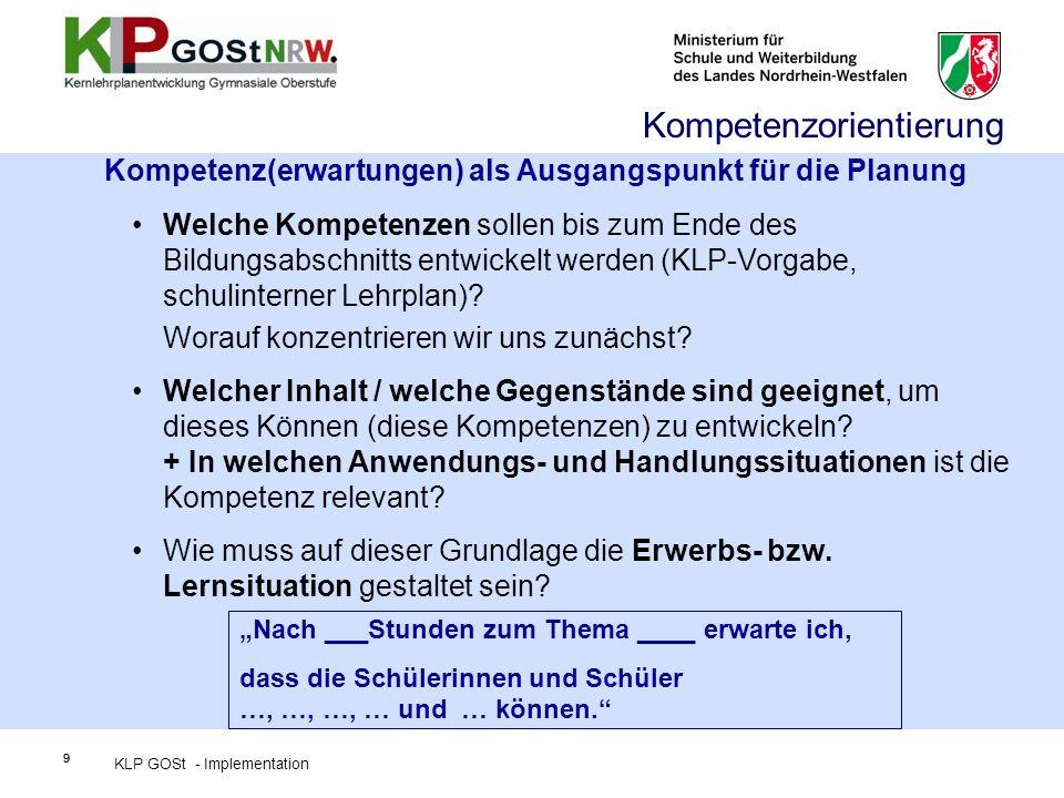 30KLP GOSt - Implementation