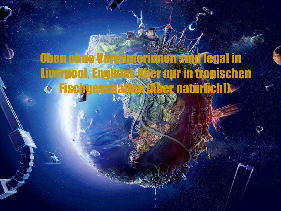 Oben ohne Verkäuferinnen sind legal in Liverpool, England.