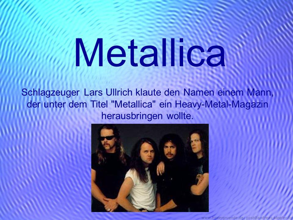Metallica Schlagzeuger Lars Ullrich klaute den Namen einem Mann, der unter dem Titel