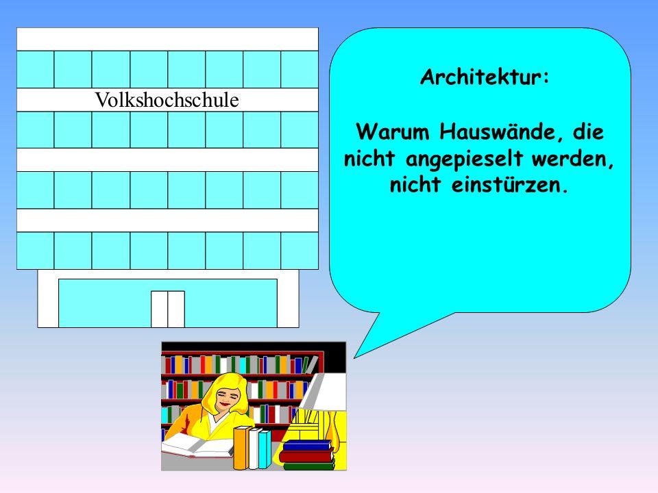 Architektur: Warum Hauswände, die nicht angepieselt werden, nicht einstürzen.