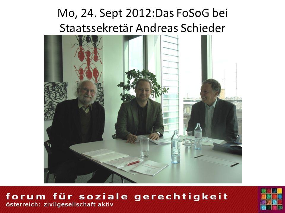 Mo, 24. Sept 2012:Das FoSoG bei Staatssekretär Andreas Schieder 5/18/201469