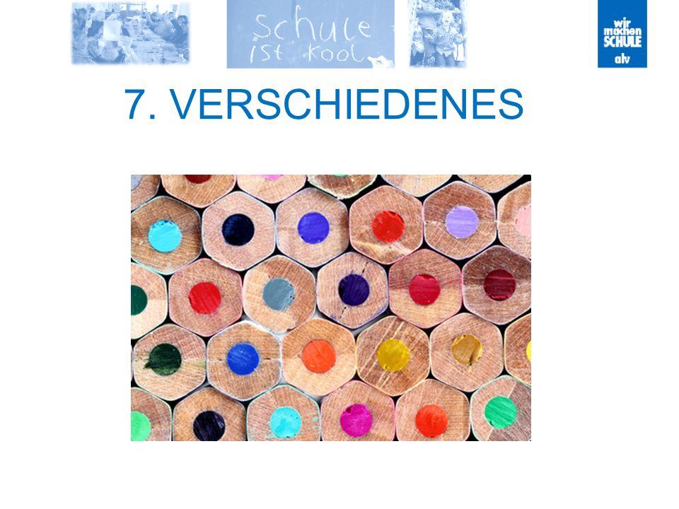7. VERSCHIEDENES