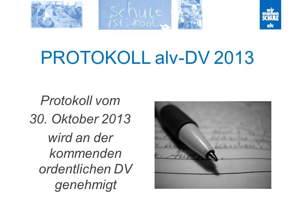 PROTOKOLL alv-DV 2013 Protokoll vom 30.