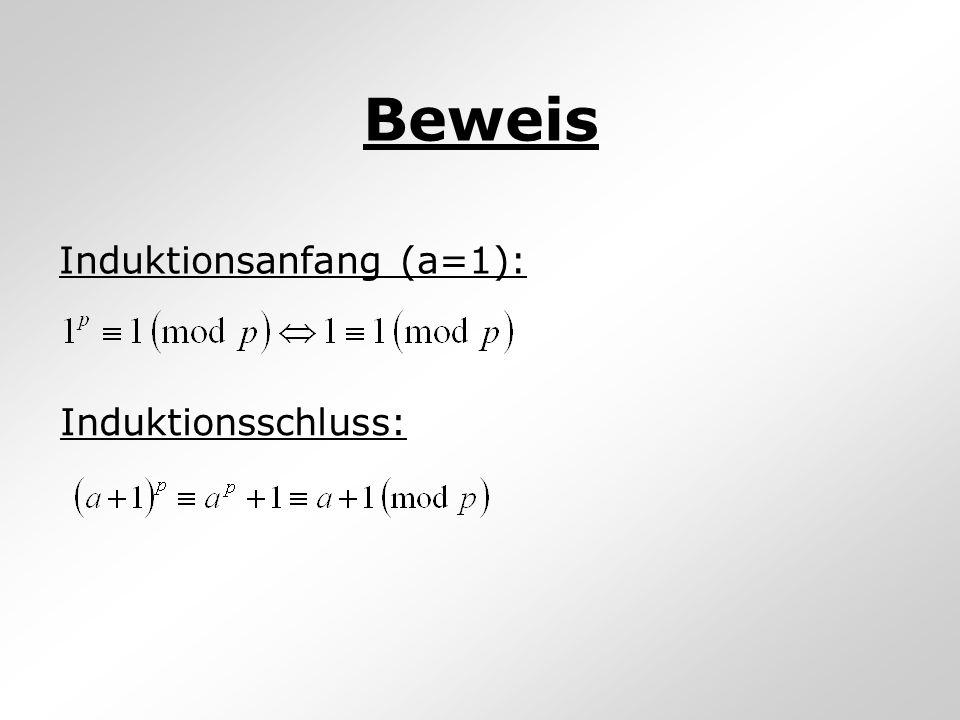 Beweis Induktionsanfang (a=1): Induktionsschluss: