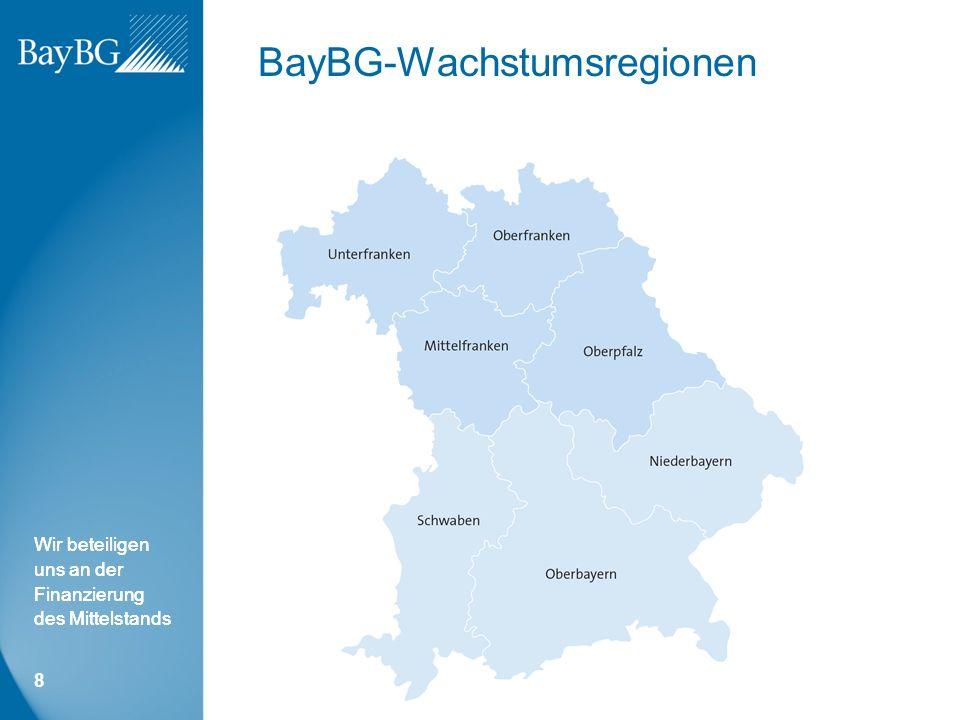 Wir beteiligen uns an der Finanzierung des Mittelstands BayBG-Wachstumsregionen 8
