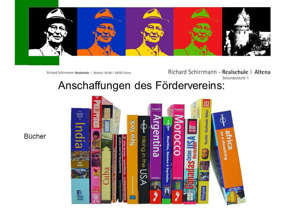 Anschaffungen des Fördervereins: Bücher