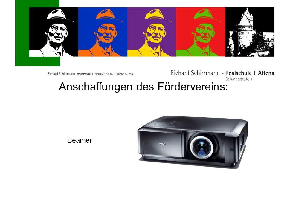 Anschaffungen des Fördervereins: Beamer