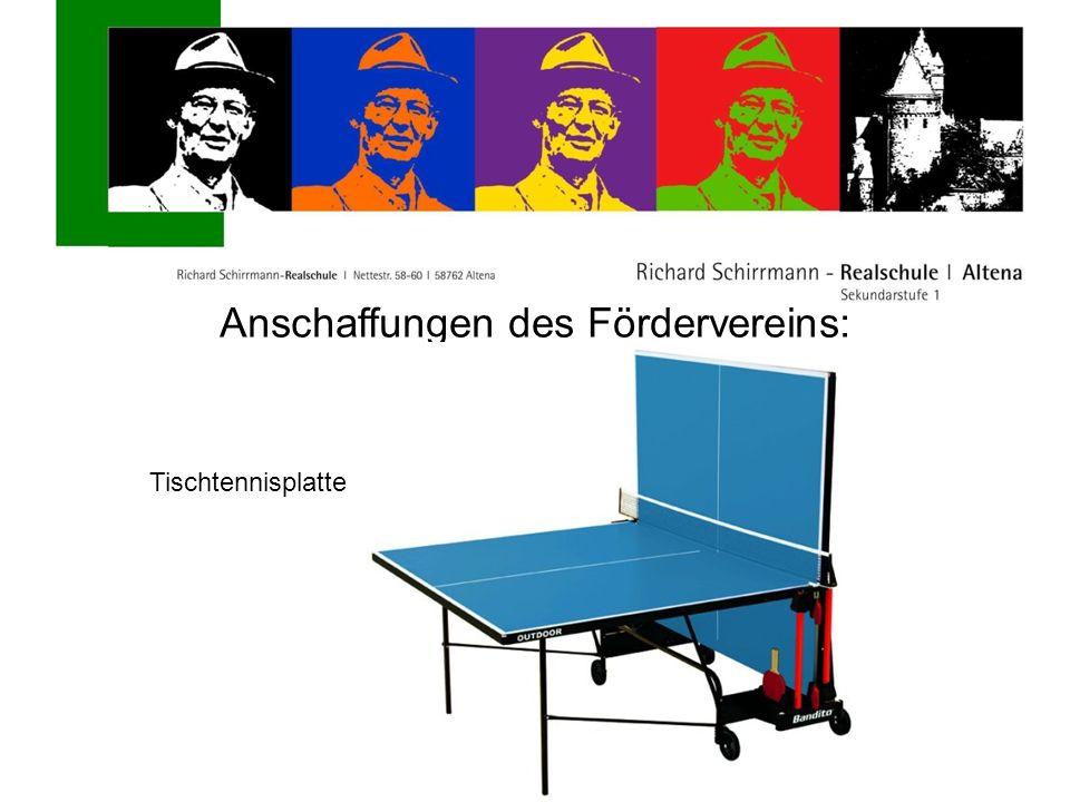 Anschaffungen des Fördervereins: Tischtennisplatte
